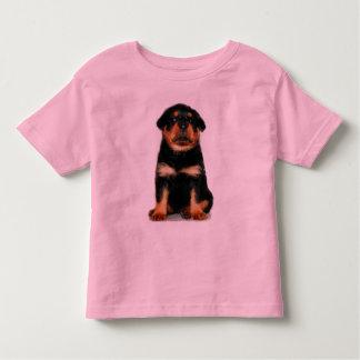 ロットワイラーの子犬の女の子のワイシャツ トドラーTシャツ