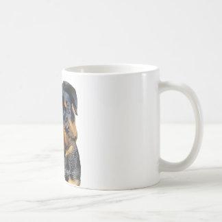 ロットワイラーの子犬 コーヒーマグカップ