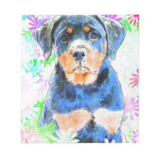 ロットワイラーの子犬 ノートパッド
