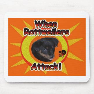 ロットワイラーの攻撃時: p マウスパッド