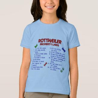 ロットワイラーの特性の法律2 Tシャツ