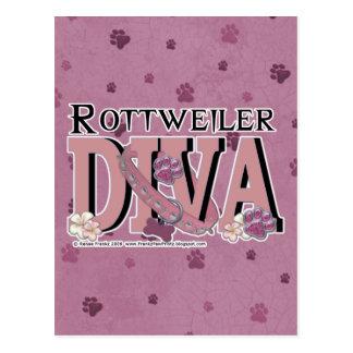 ロットワイラーの花型女性歌手 ポストカード