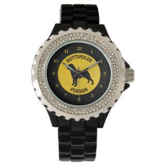 ロットワイラー人 腕時計