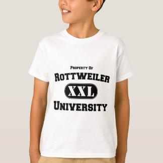 ロットワイラー大学の特性 Tシャツ