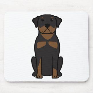ロットワイラー犬の漫画 マウスパッド