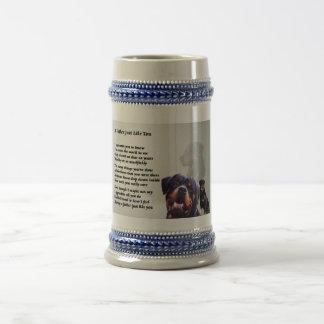 ロットワイラー犬の父の詩 ビールジョッキ