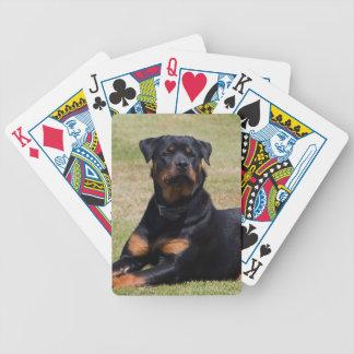 ロットワイラー犬の美しい写真、ギフト バイスクルトランプ