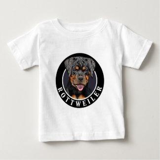 ロットワイラー犬002 ベビーTシャツ