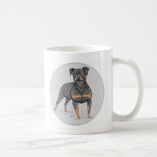 ロットワイラー犬 コーヒーマグカップ