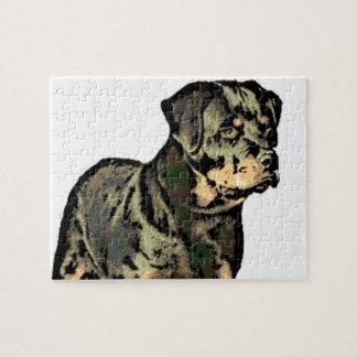ロットワイラー犬 ジグソーパズル