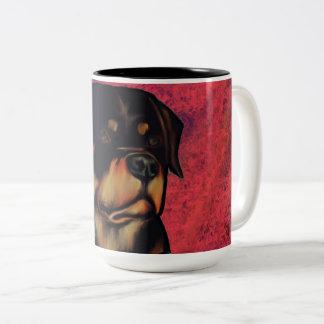 ロットワイラー ツートーンマグカップ