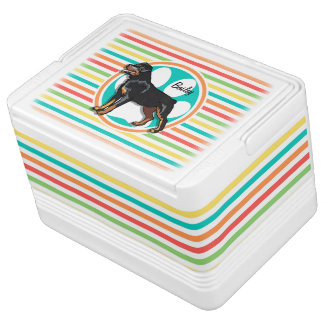 ロットワイラー; 明るい虹は縞で飾ります IGLOO クーラーボックス
