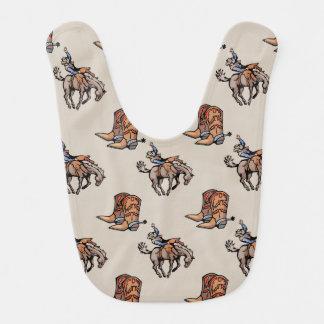 ロデオのカウボーイ、西部のブーツ、馬、国 ベビービブ