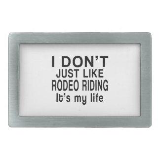 ロデオの乗馬は私の生命です 長方形ベルトバックル