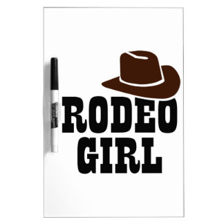 ロデオの女の子 ホワイトボード