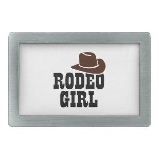 ロデオの女の子 長方形ベルトバックル