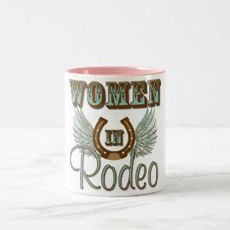 ロデオ15ozのコーヒー・マグの女性 ツートーンマグカップ
