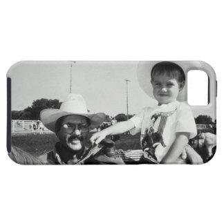 ロデオ(B&W)の父そして息子(2-4) iPhone SE/5/5s ケース