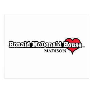 ロナルドマクドナルドのハート ポストカード