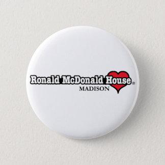ロナルドマクドナルドのハート 5.7CM 丸型バッジ