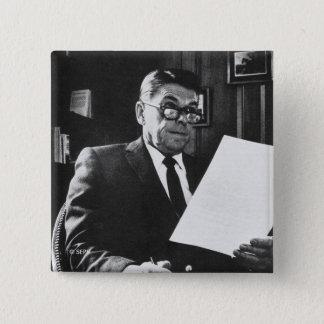 ロナルド・レーガンの写真 5.1CM 正方形バッジ