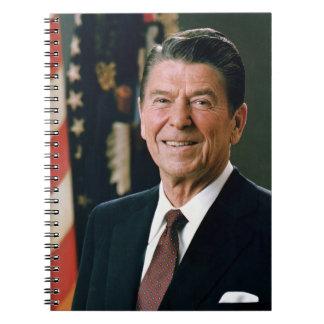 ロナルド・レーガンの大統領1981螺旋綴じのノート ノートブック