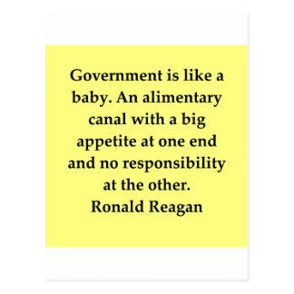 ロナルド・レーガンの引用文 ポストカード