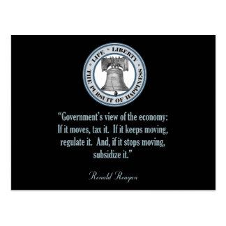 ロナルド・レーガンの引用文(政府の意見) ポストカード