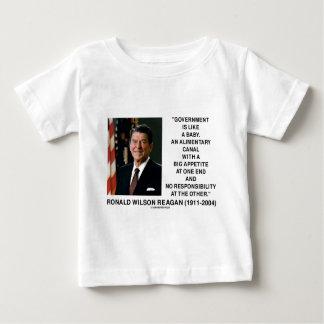 ロナルド・レーガンの政府はベビーの栄養運河を好みます ベビーTシャツ