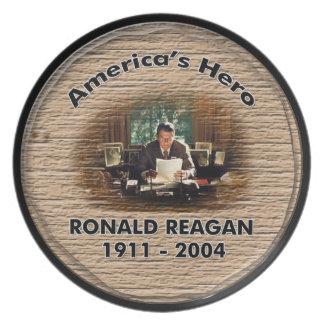 ロナルド・レーガンの記念のプレート プレート