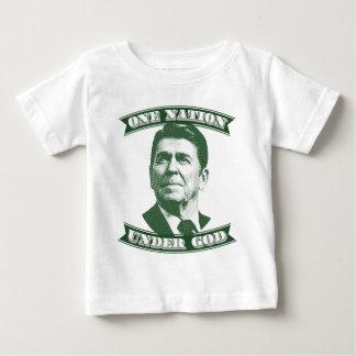 ロナルド・レーガン神の下の1つの国家 ベビーTシャツ