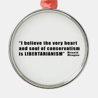 ロナルド・レーガン著保守主義の自由主義の引用文 メタルオーナメント