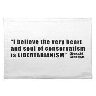 ロナルド・レーガン著保守主義の自由主義の引用文 ランチョンマット