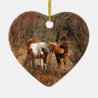 ロバおよび子馬 セラミックオーナメント
