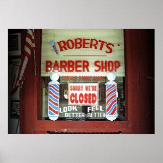 ロバーツの理髪店 ポスター