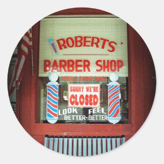 ロバーツの理髪店 ラウンドシール