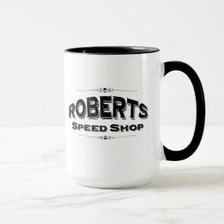 ロバーツの速度の店のマグ マグカップ