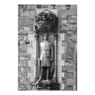 ロバートの彫像エジンバラの城のブルース フォトプリント