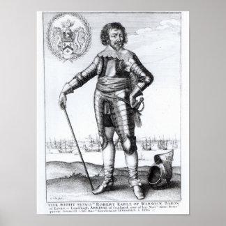 ロバートの金持ち、Warwickの第2伯爵 ポスター