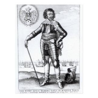 ロバートの金持ち、Warwickの第2伯爵 ポストカード