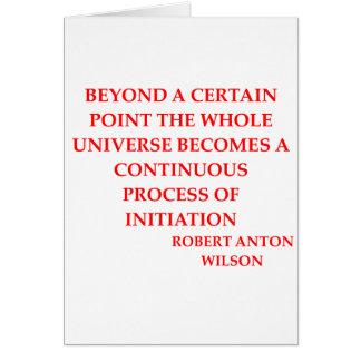 ロバートアントンウイルソンの引用文 カード