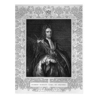 ロバートハーレーのオックスフォードの伯爵のポートレート ポストカード