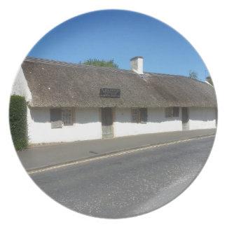 ロバート・バーンズのコテージ、AllowayのAyrshire、スコットランド プレート