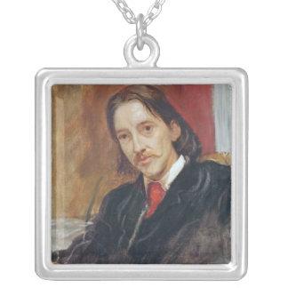 ロバート・ルイス・スティーヴンソン1886年のポートレート シルバープレートネックレス