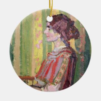 ロバートBevan、c.1913 (キャンバスの油)夫人 セラミックオーナメント