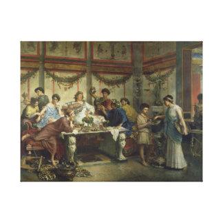 ロバートBompiani著ローマの饗宴 キャンバスプリント
