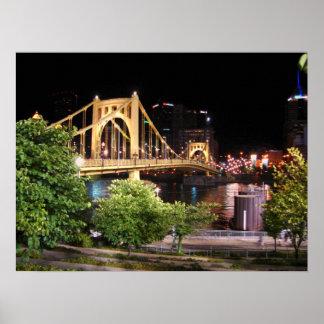 ロバートClemente橋-ピッツバーグ、ペンシルバニア ポスター