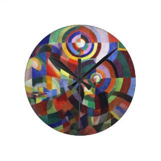 ロバートDelaunay著リズム ラウンド壁時計