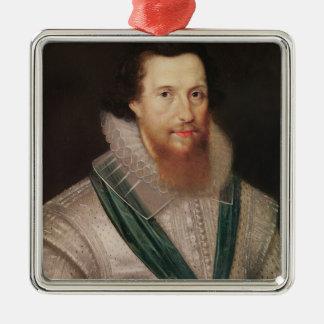 ロバートDevereux c.1596のポートレート メタルオーナメント
