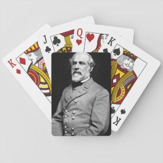 ロバートE.リーのポートレートが付いているカードを遊ぶこと トランプ
